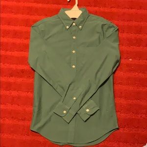 American Eagle Forest Green Dress Shirt